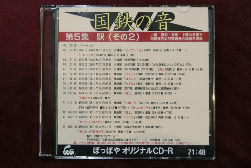 画像1: CD-R「国鉄の音」第5集 駅(その2)