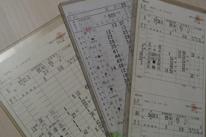 画像1: 深名線スタフ「93仕業」1枚、「91仕業」2枚、「25仕業」1枚・行路不揃いの3セット
