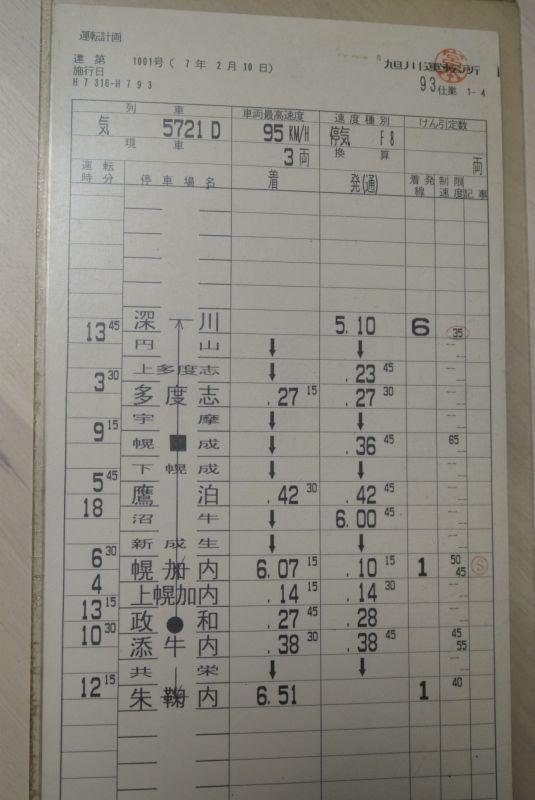 画像2: 深名線スタフ「93仕業」1枚、「91仕業」2枚、「25仕業」1枚・行路不揃いの3セット