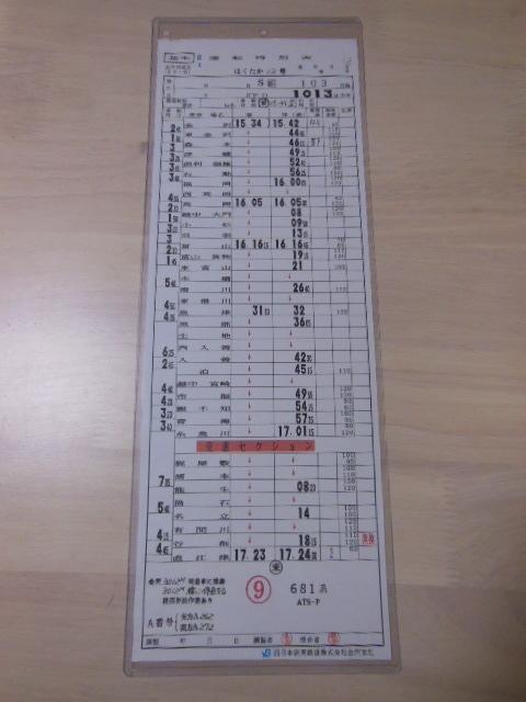 画像1: 携帯スタフ 金沢列車区 金沢〜直江津間(現3セク)今はなきはくたか681系