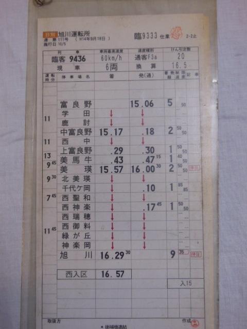 画像3: 旭川運転所「富良野美瑛ノロッコ号」施行日H14.10.5