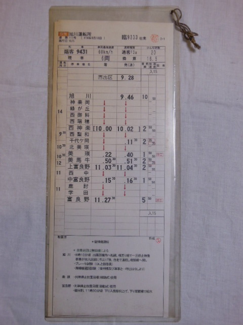 画像1: 旭川運転所「富良野美瑛ノロッコ号」施行日H14.10.5