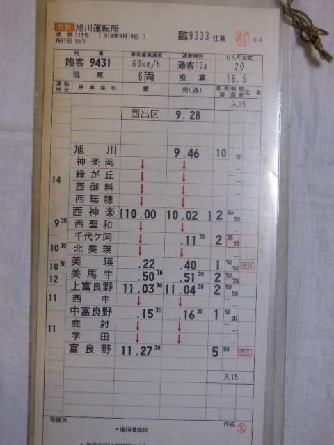 画像2: 旭川運転所「富良野美瑛ノロッコ号」施行日H14.10.5