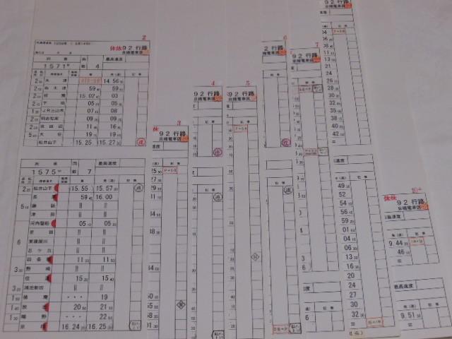 画像1: 京橋電車区「92行路」行路不揃い